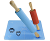 Picture of Chefast Non-Stick Rolling Pin and Pastry Mat Set