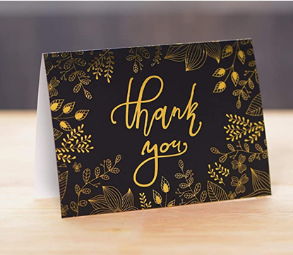 Picture of 50 Thank You Cards with Envelopes  - Fresh and lucky