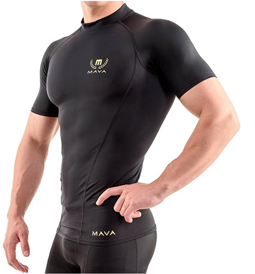 Picture of Mava Sports Men's Short Sleeve Compression T Shirt