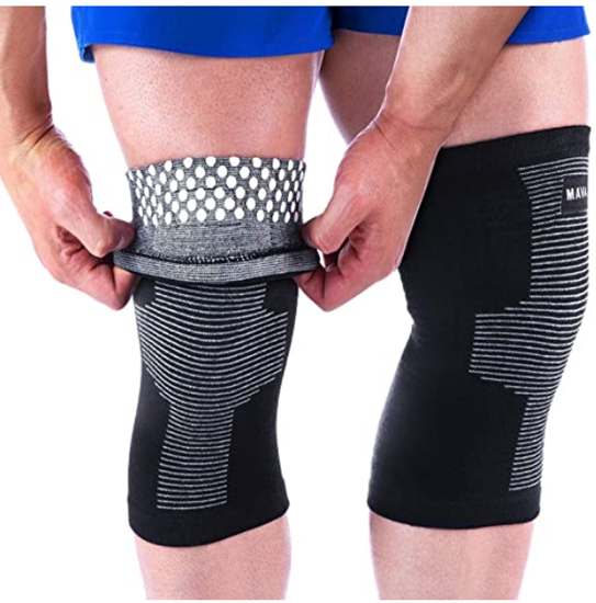 Picture of Mava Sports Reflexology Knee Support Sleeves (Pair)