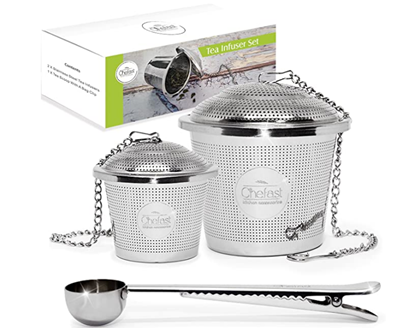 Picture of Tea Infuser Set by Chefast (1+1 Pack) - Combo Kit