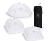 Picture of Chefast Food Cover Tents (5 Pack) Combo Set of Pop Up Mesh Covers in 5 Sizes and a Reusable Carry Bag - Umbrella Screens for Picnics, BBQ, Outdoors and More